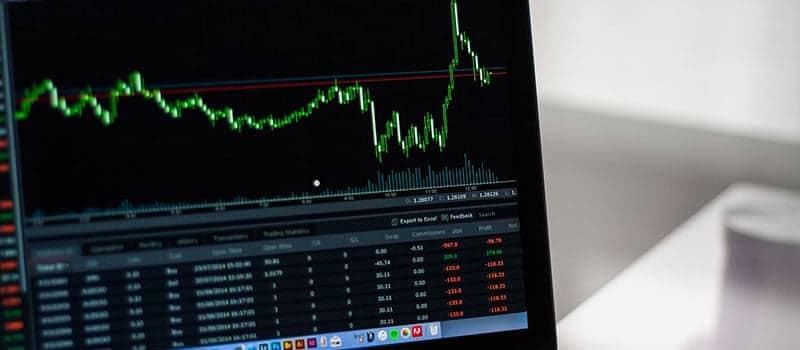 Aktiehandel med grafer